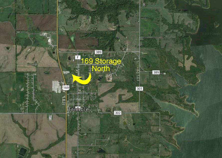 Aerial View of 169 Storage North Location